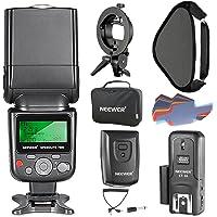 Neewer 750II TTL Kit Flash Speedlite para Nikon DSLR Cámaras, Incluye Flash Luz, CT-16 Disparafdor Inalámbrico, 40 x 40 Centímetros Softbox con Soporte Tipo S y 20 Piezas de Filtro de Color