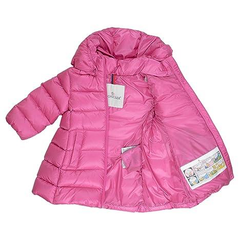 Moncler Giacca Piumino bambina rosa 6 9 Mesi: Amazon
