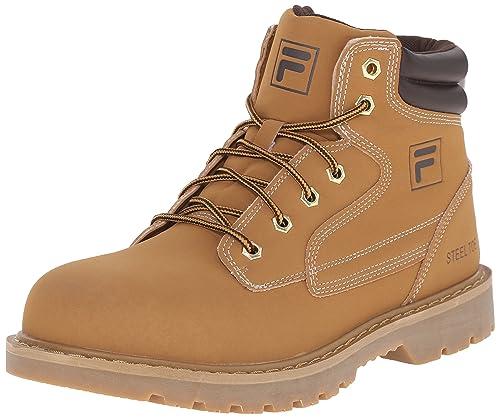 Fila Men's Landing Steel Walking Shoe, Wheat/Espresso/Gum, ...