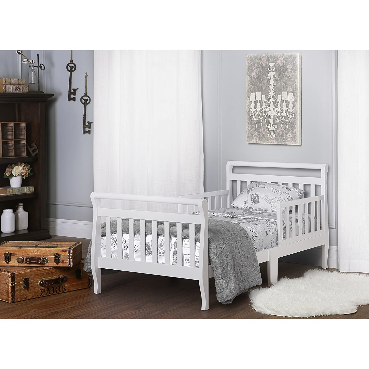 Dream On Me Classic Sleigh Toddler Bed Espresso
