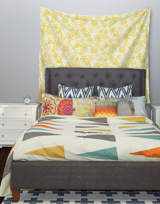 51 X 60 Kess InHouse Julie Hamilton Paper Daisy Yellow Wall Tapestry