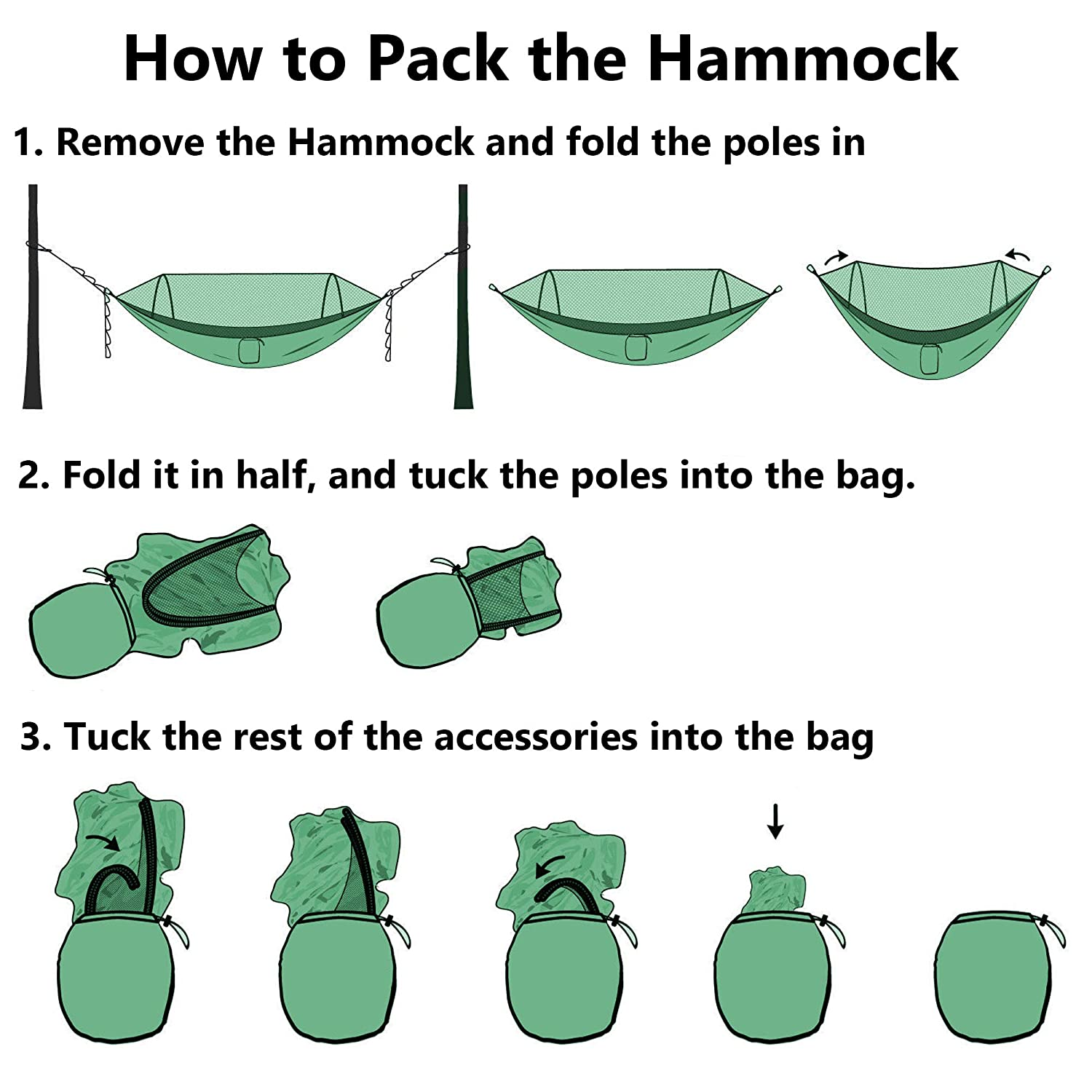 SoraOutdoors Hammock with Pop Up Mosquito Net for Camping Lightweight Nylon