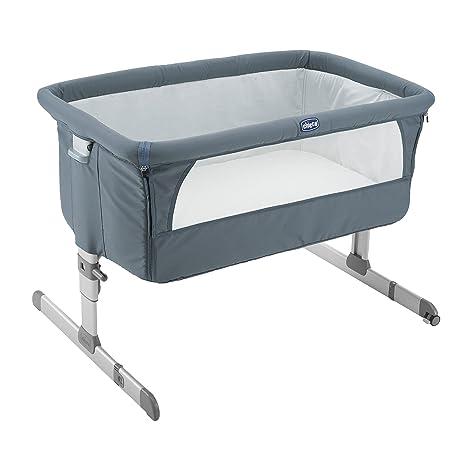 Chicco Next2Me - Cuna de colecho, con anclaje a cama, 6 alturas, color grafito