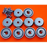 """10Pc Super Strong 90 lbs Neodymium Cup Magnet 1.26"""" Countersunk Round Base Mounting Magnet Used as Tool Holder and Door Latch w/Screws, Strongest & Most Powerful Rare Earth Magnets by Applied Magnets"""