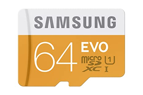 Samsung Evo 64gb 48mbs Micro Sdxc Memory Card With Adapter Up To Mb Mp64daam
