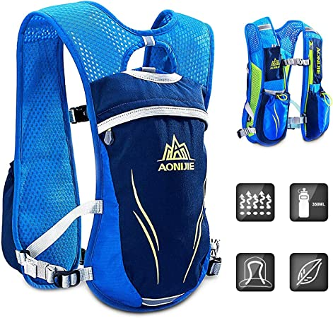 HINATAA Hydration Pack Backpack,5.5L Running Hydration Vest Marathon  Running Vest for Women and Men Lightweight Trail Running Backpack (Blue):  Amazon.co.uk: Sports & Outdoors