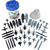 Sunny Days Entertainment Military Air Force Bucket – 47 Assorted Battleships and Accessories Toy Play Set For Kids, Boys…