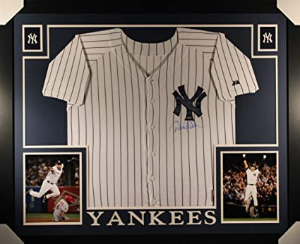 308bf4a65b1 Derek Jeter New York Yankees Autograph Signed Custom Framed Jersey Steiner  Sports Certified
