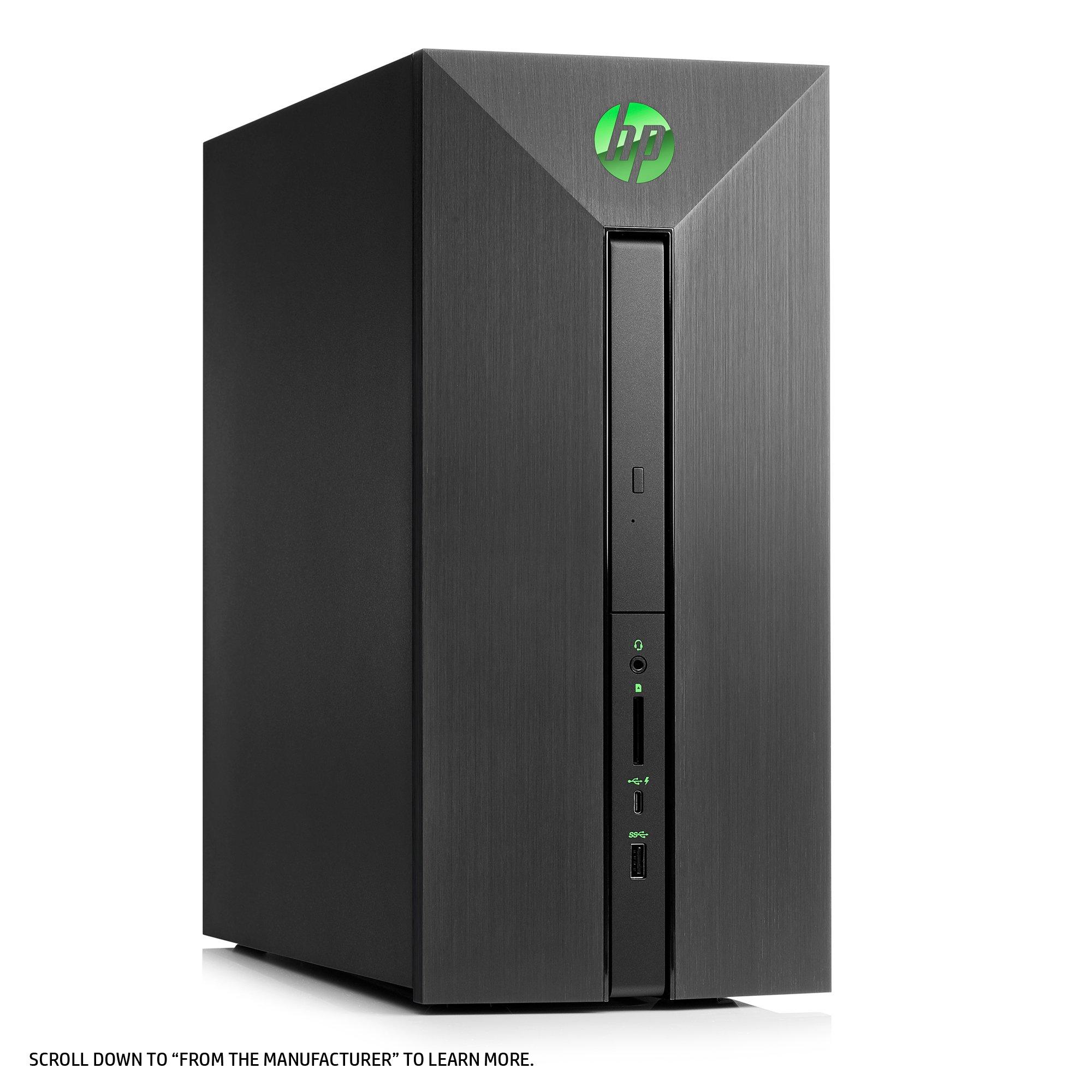 HP Pavilion Power Desktop Computer, Intel Core i7-7700, NVIDIA GeForce GTX 1060, 16GB RAM, 1TB hard drive, 128GB SSD, Windows 10 (580-068, Black) by HP (Image #4)