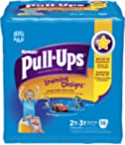 Huggies Pull-Ups Training Pants Learning Designs, 2T - 3T, Boy, 56 Count (Pack of 2)