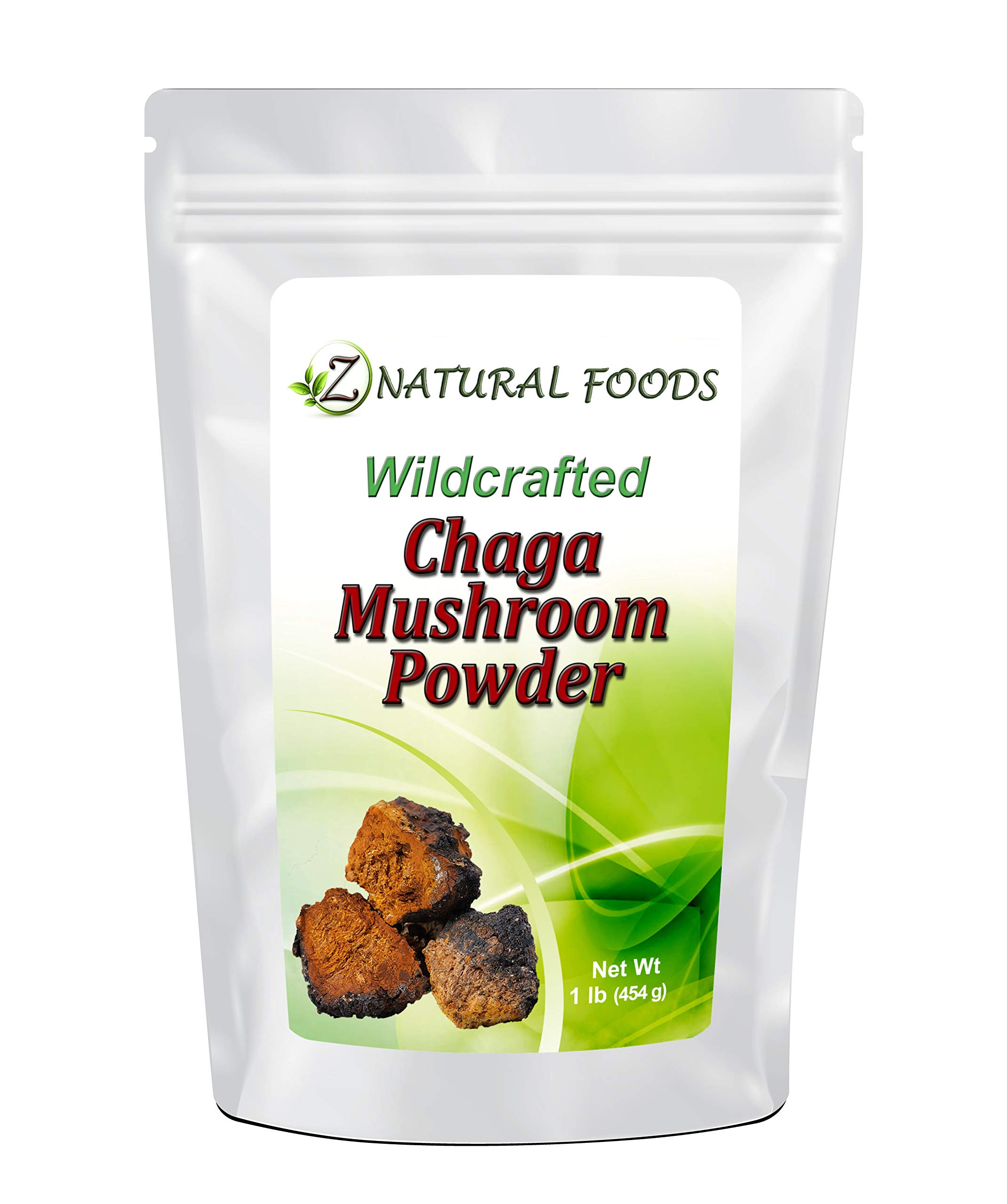 Chaga Mushroom Powder - 1 lb - Support Your Immune System & Antioxidant Benefits - Steep Like Tea or Add To Smoothies & Recipes - Wildcrafted In USA & Canada - Raw, Non-GMO by Z Natural Foods