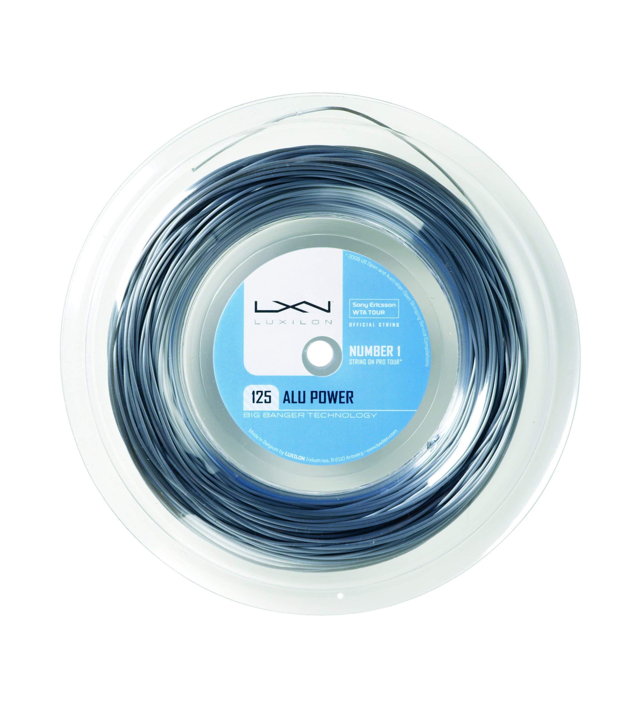 Luxilon ALU Power 125 16L Silver tennis string (330 foot, 100M reel)