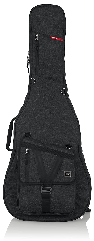 Gator Cases Transit Series Acoustic Guitar Gig Bag; Charcoal Black Exterior (GT-ACOUSTIC-BLK)