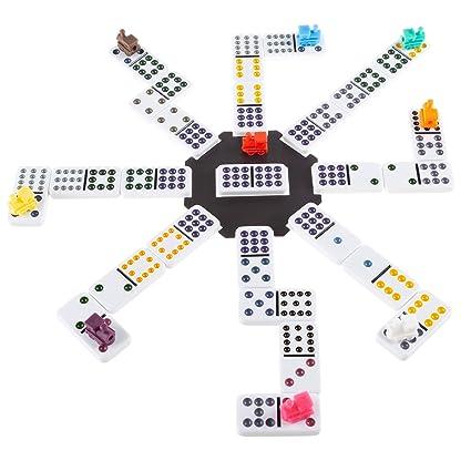 Amazon.com: Dominos mexicanos – Juego de tren con 91 ...