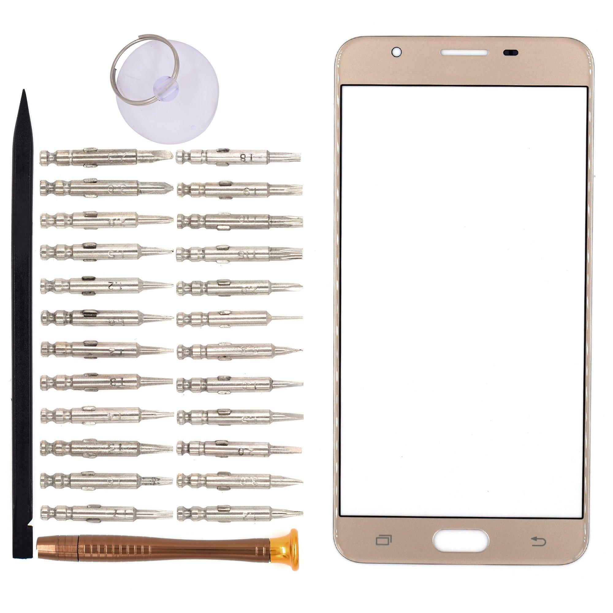 Vidrio Frente Para Samsung Galaxy On7 Dorado [goodyitou]