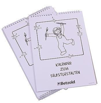 Betzold 11561 Bastel Kalender Für Kinder 10er Bastel Set Kreativ Kalender Wandkalender Selbstgestalten Basteln