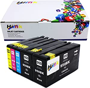 HIINK Comaptible Ink Cartridge Replacement for HP 950 951 950XL 951XL Use with OfficeJet Pro 8600 8100 8610 8620 8660 8630 8640 8615 8625 251DW 276DW 271DW (Black, Cyan, Magenta, Yellow, 5-Pack)