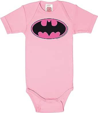 Logoshirt Body para bebé Batman Logotipo Rosa - DC Comics - Batman Logo Pink - Pelele para bebé - Rosa - Diseño Original con Licencia