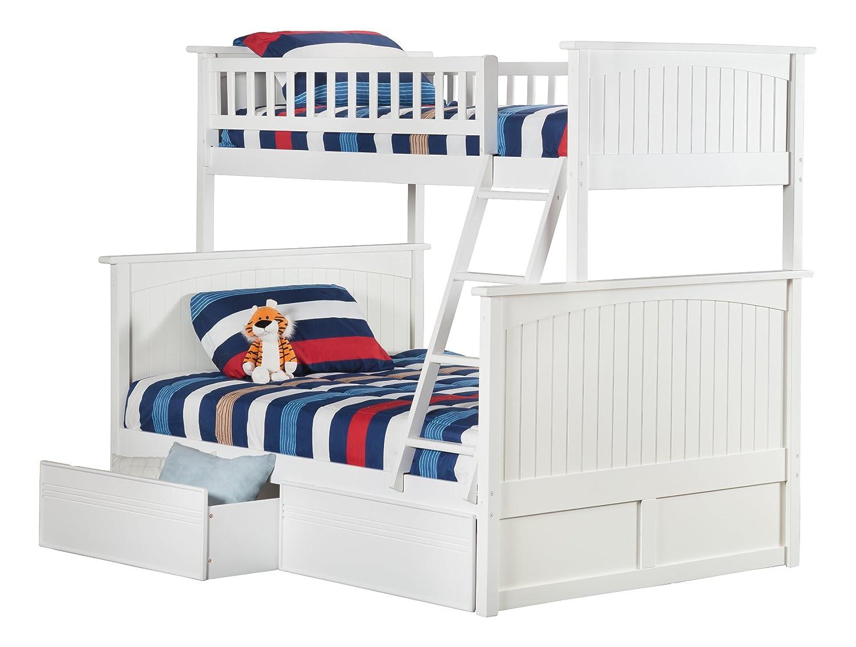 Nantucket Bedroom Furniture Amazoncom Nantucket Bunk Bed With 2 Flat Panel Bed Drawers Twin