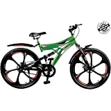 Atlas Torpedo D/Shox And Dual Disc Brake 26T Mountain Cycle (Green/Red)