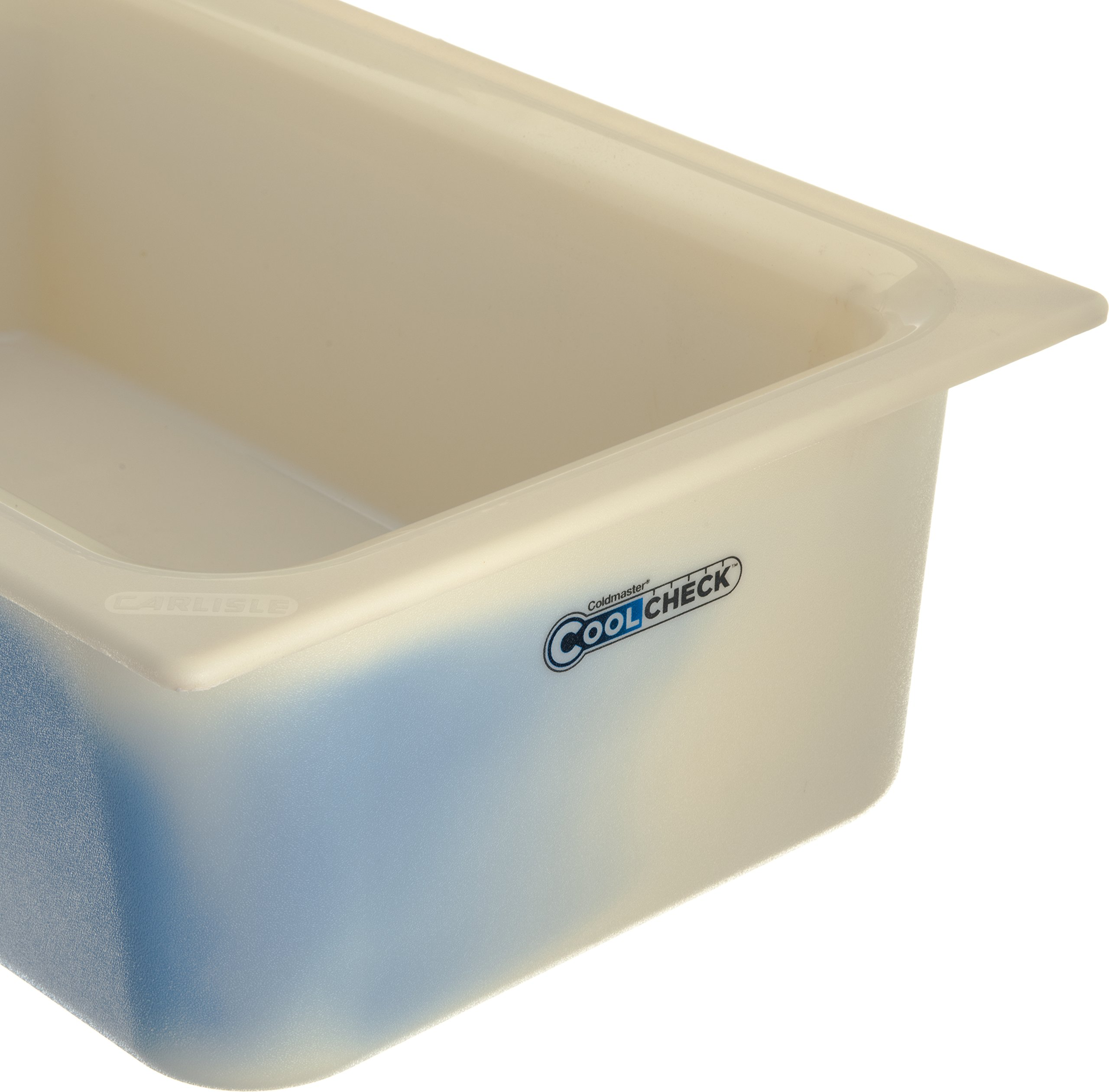 Carlisle CM1100C1402 Coldmaster CoolCheck 6'' Deep Full-Size Insulated Cold Food Pan, 15 Quart, Color Changing, White/Blue by Carlisle (Image #4)