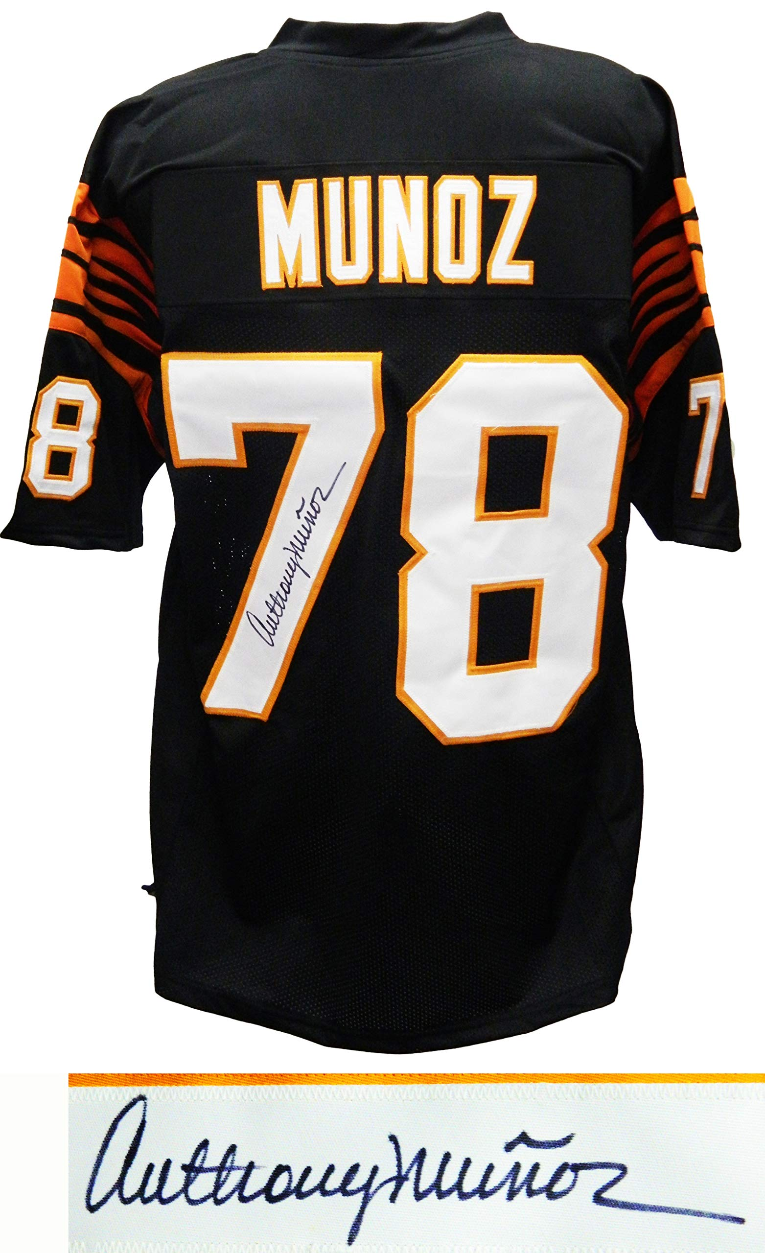 Anthony Munoz Signed Black Custom Football Jersey