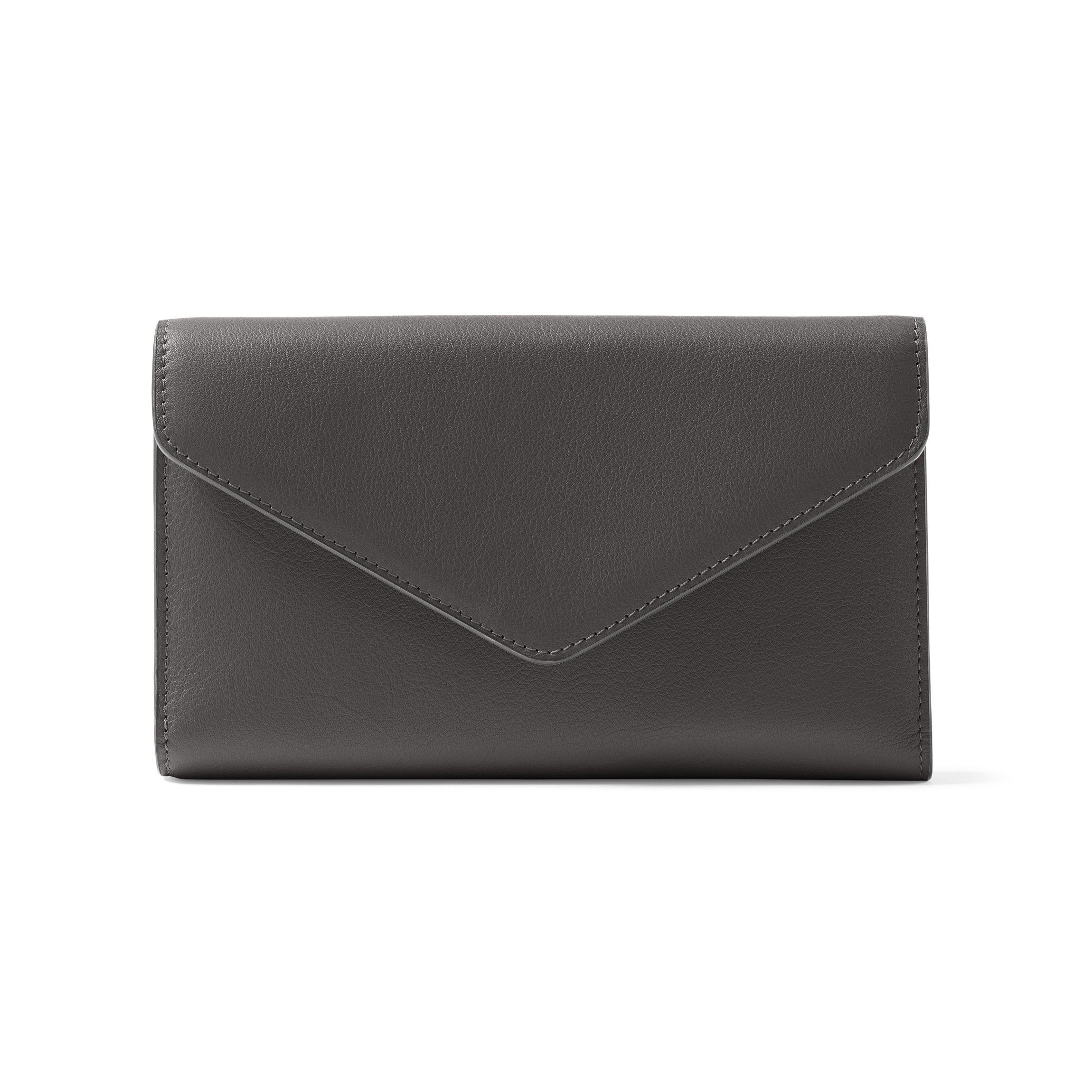 Trinity Checkbook Wallet - Full Grain Leather Leather - Black Onyx (black)