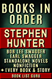 Stephen Hunter Books in Order: Bob Lee Swagger series, Earl Swagger books, Ray Cruz series, all short stories, standalone novels, and nonfiction, plus ... (Series Order Book 69) (English Edition)