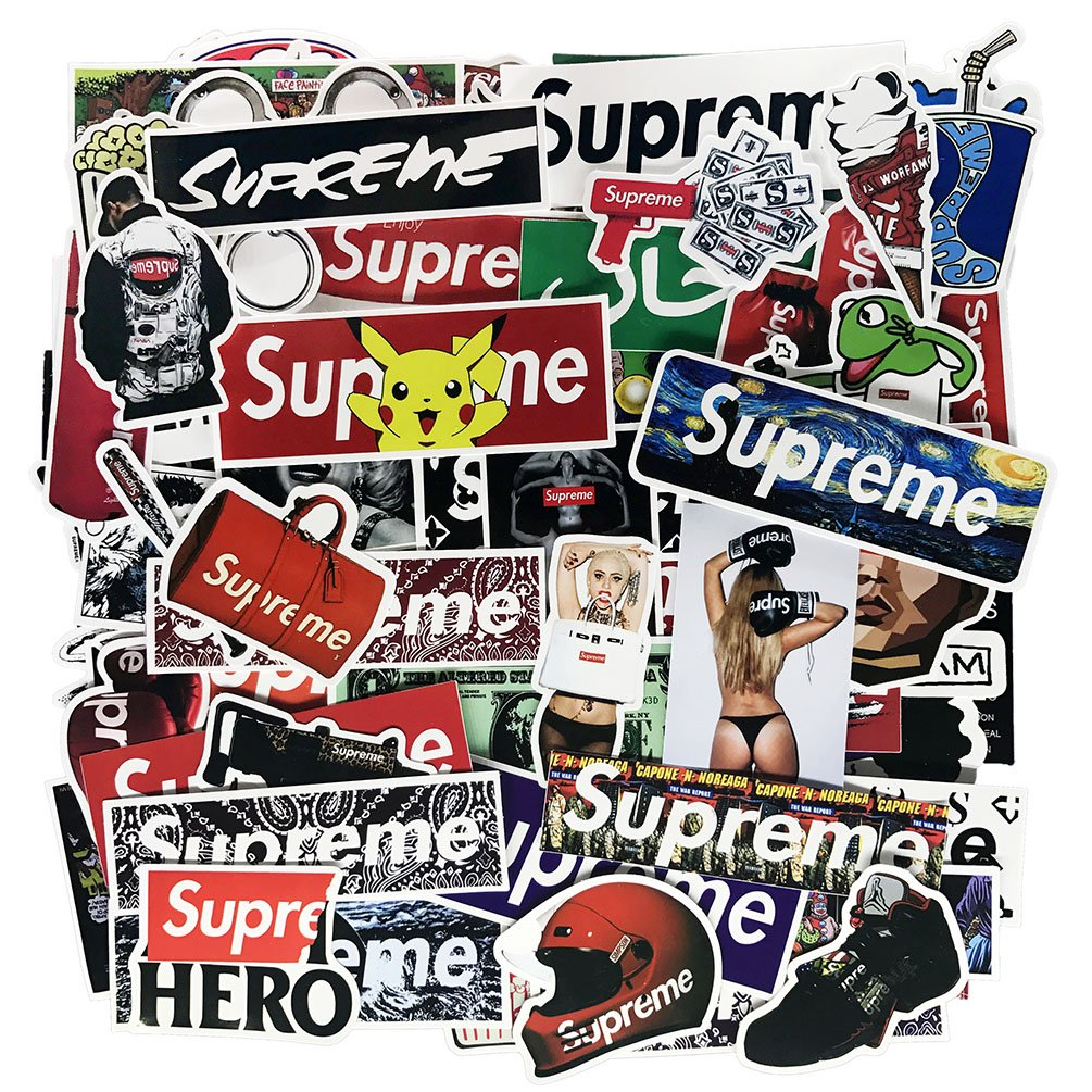 Fashion Laptop Stickers Waterproof Skateboard Pad Macbook Car Snowboard Bicycle Luggage Decor (104pcs)