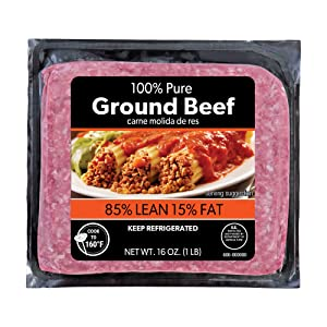 85% 1 lbs Lean Ground, Beef 16 Ounce