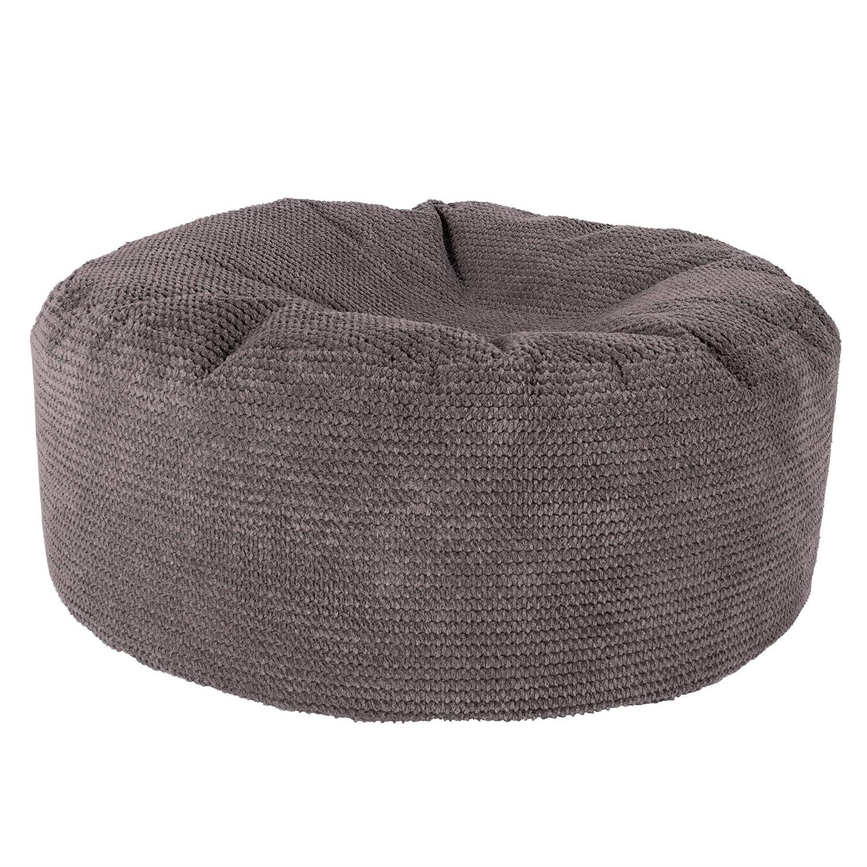 Lounge Pug®, Sitzhocker Pouf, Sitzpouf, Pom-Pom Anthrazit