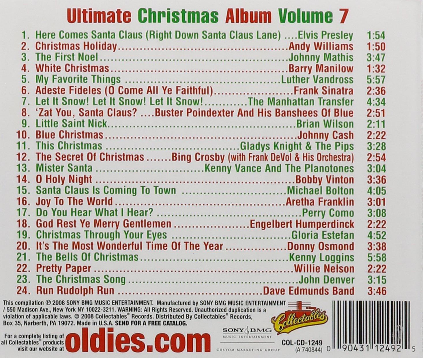 VARIOUS ARTISTS - Ultimate Christmas Album, Vol. 7: WCBS FM 101.1 ...