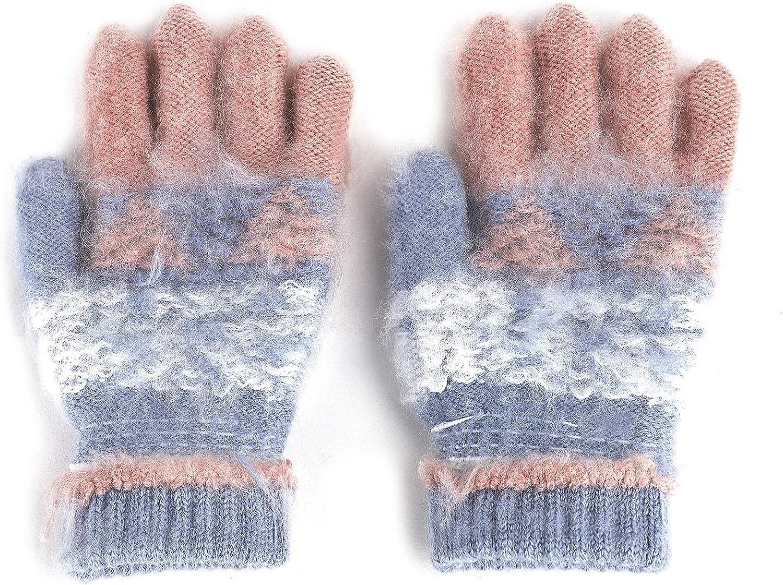 Handschuhe Kleinkind Winterhandschuhe Baby Strickhandschuhe Polyester Laufhandschuhe Warm Fausthandschuhe Tier Muster Thermohandschuhe Winddicht/Halshandschuhe Winter Kinderhandschuhe 1-4 Jahre alt