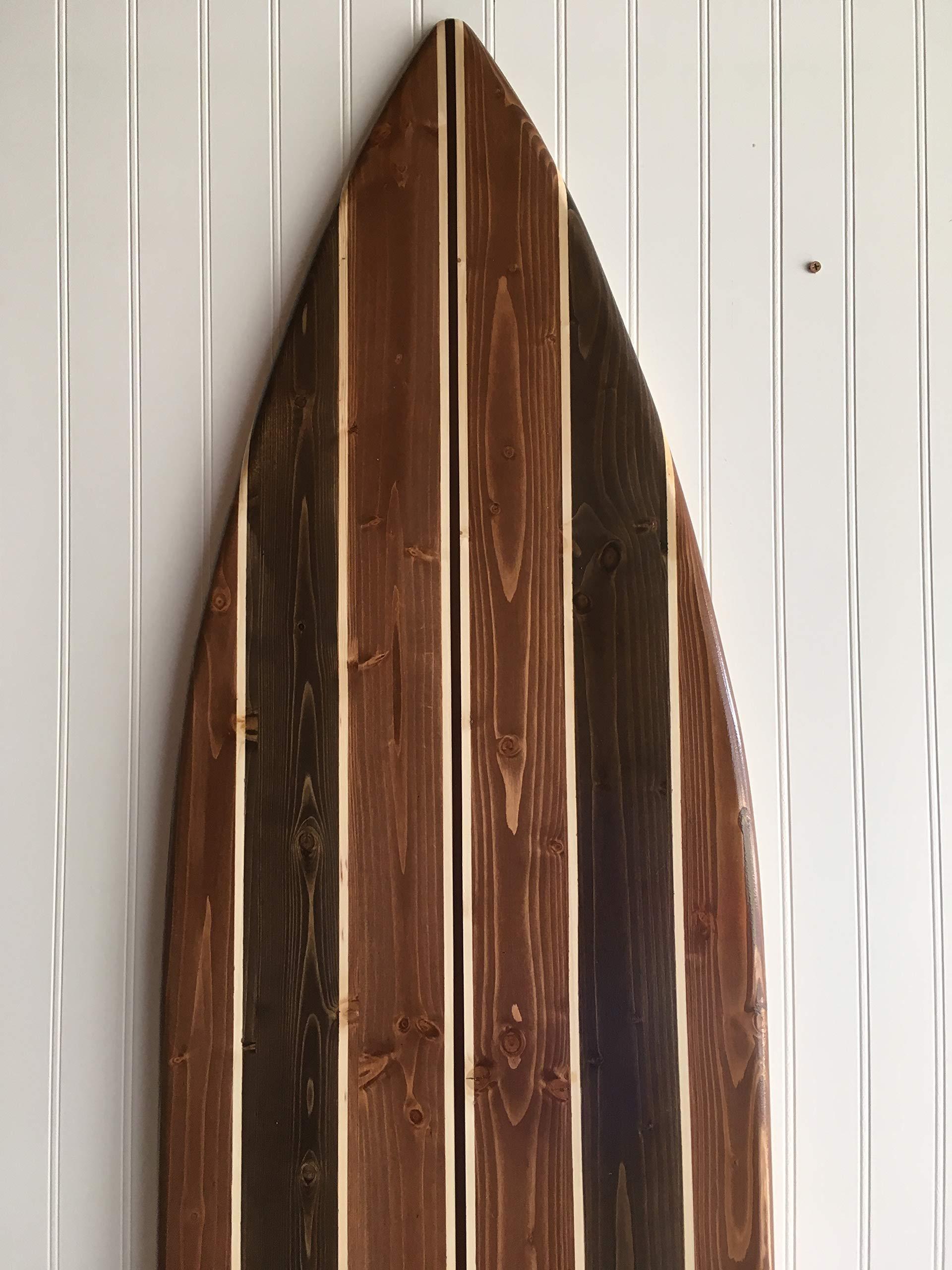6 foot wood surfboard wall art vintage design