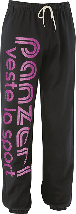 Pantalon de survêtement Panzeri Uni h noir//fus nacre jers Noir 10870 Neuf