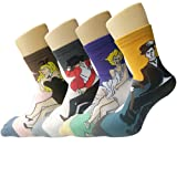 Amazon Price History for:Pack of 4 Womens Famous Painting Art Printed Casual Cotton Crew Socks