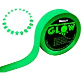 Best Glow in the Dark Tape for Safety, Stairs, Light Switches, Stage, Theatrical, Theater, Exits, Decals, Ceiling, Floor, Vinyl, Stripe, Arrows, Stars, Dot, Waterproof, Gaffers, Halloween, Fluorescent