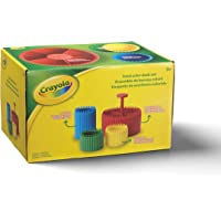 Crayola Ultimate Desk Organizer 4-Piece Set -1 Pencil Cup, 2 Crayon Cups, and 1 Round Organizer - Colorful Holders to…