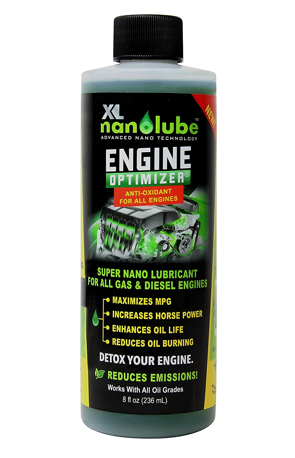 Xl Nanolube Engine Oil Additive Nano Treatment Audi 2000 2 8l Diagram Reduces Burning Smoke Works W Synthetic All Great For Diesel Gas