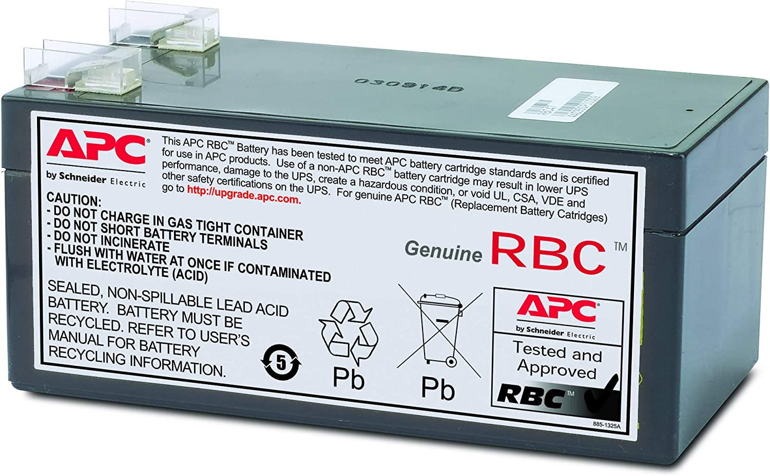 Compatible Replacement Battery Kit APC Back-UPS ES 325 BE325