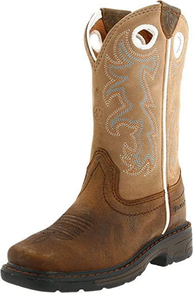 f98ce76d8e7 ARIAT Kids' Workhog Wide Square Toe Tall Work Boot, Distressed Brown ...