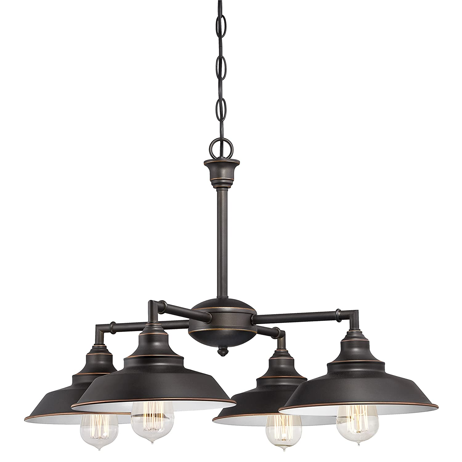 amazoncom iron hill fourlight indoor convertible ceiling fixture oil rubbed bronze finish with highlights and