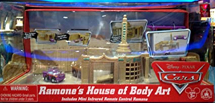 Amazon Com Disney Parks Cars Land Ramone S House Of Body Art Includes Mini Infrared Remote Control Ramone Disney Parks Exclusive Limited Availability Toys Games