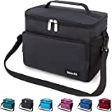 Leakproof Reusable Insulated Cooler Lunch Bag - Office Work Picnic Hiking Beach Lunch Box Organizer with Adjustable Shoulder