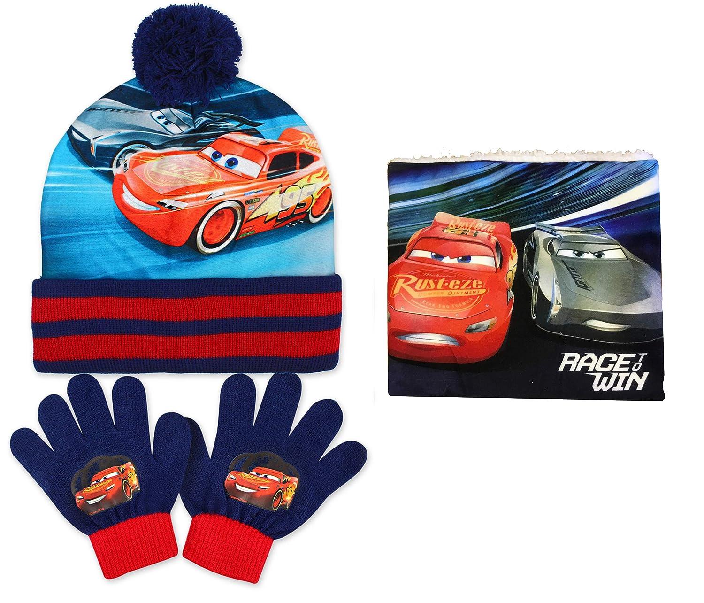 Disney Cars Hat, Snood & Gloves by Jujak Blue)
