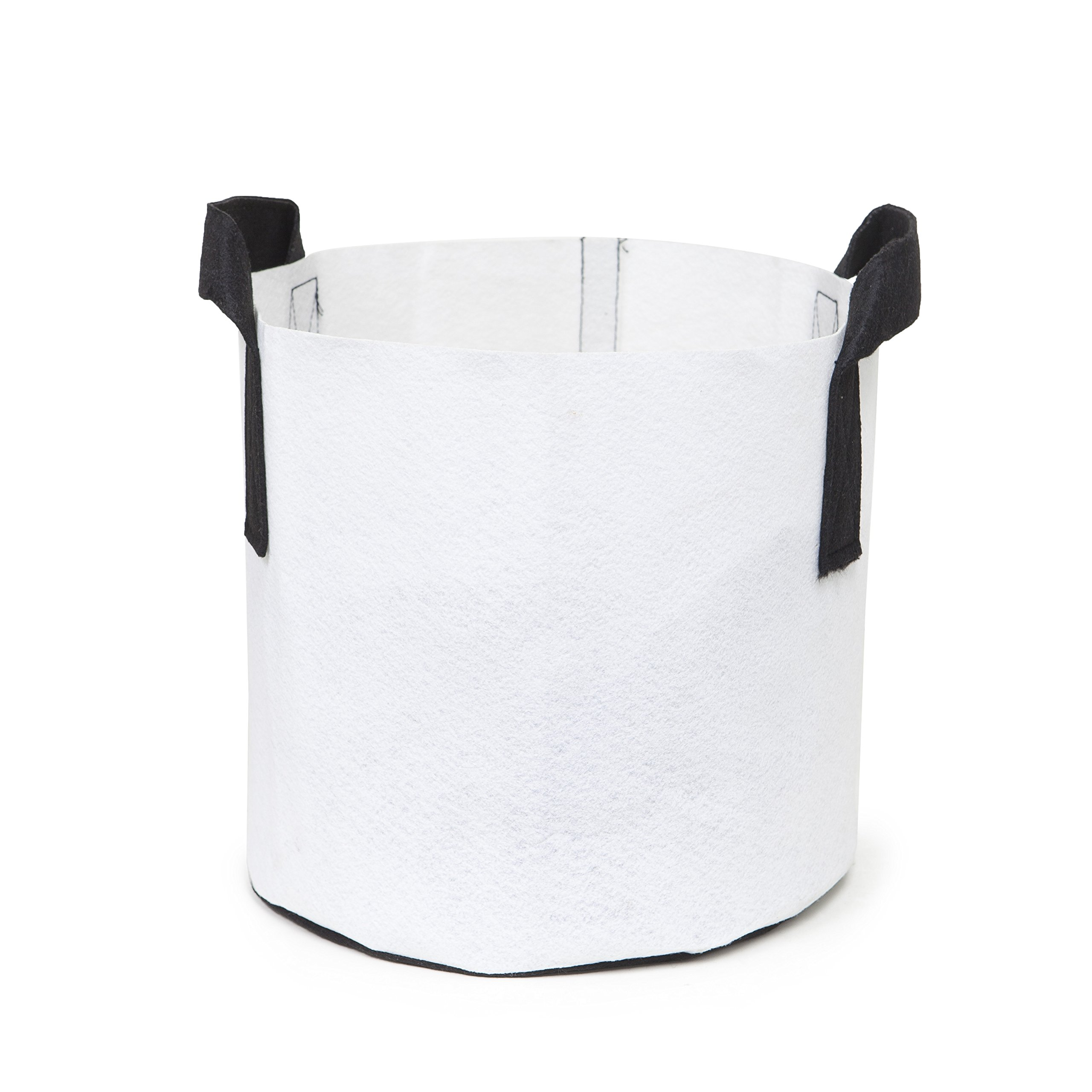 247Garden 6-Pack 7 Gallon Grow Bags/Aeration Fabric Pots w/Handles (White) by 247Garden (Image #2)