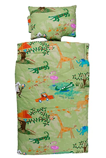 Amazon Com Snug Bugs Toddler Nap Mat With Pillow And