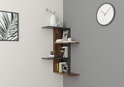 FMD furniture Estantería esquinera, Tabla de Madera aglomerada, ca. 45 x 45 x 75 cm