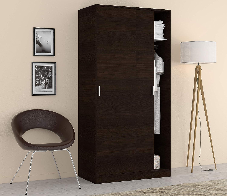 Esidra Armario ropero Moderno, 2 Puertas correderas, Laminado Blanco-cm. 200 x 150 x 63, único: Amazon.es: Juguetes y juegos