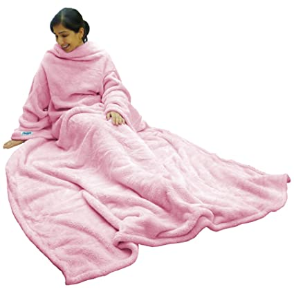 8f7889f1c1 Image Unavailable. Image not available for. Color  Ultimate Slanket - Pink Sleeved  blanket with Sleeves